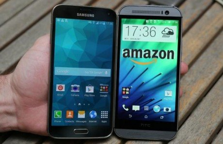 Galaxy S5 One M8 amazon