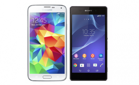 Samsung galaxy s5 vs sony xperia z2 540x334