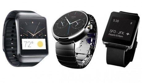 Samsung Gear Live Motorola Moto 360 e LG G Watch