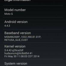 Android 4.4.3 su Motorola Moto G