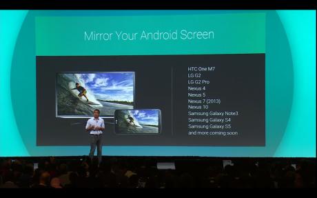 Chromecast mirroring