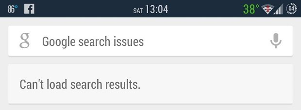 problema google now search