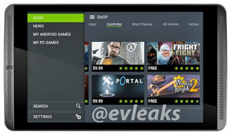 NVIDIA Shield Tablet evleaks