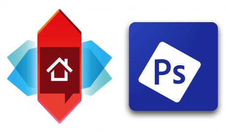 Nova Launcher e Adobe Photoshop Express