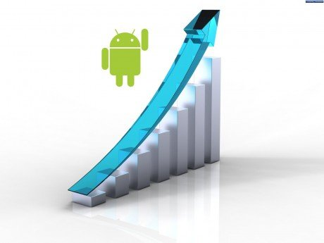 Blue business graph
