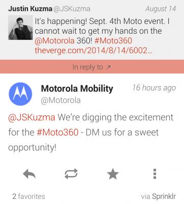 Motorola-Twitter-DM-Moto-360-early-access