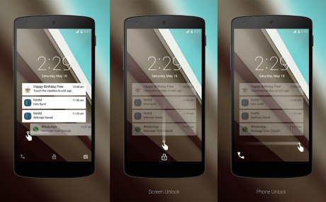 Android L lockscree