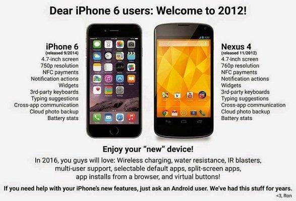 OnePlus, Sony e HTC sfottono Apple e il suo iPhone 6 Plus