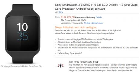 Smartwatch 3 Prezzo