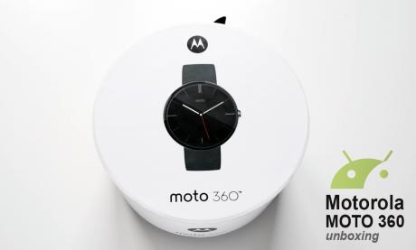 Motorola moto 360 unboxing