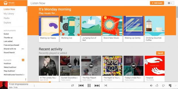 Play Music - new recommendations - Web