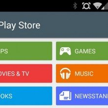 Play Store 5.0 con Material Design