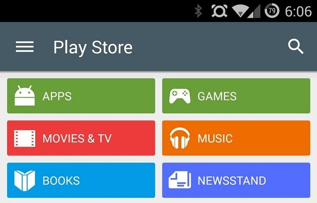 Play Store 5.0 con Material Design
