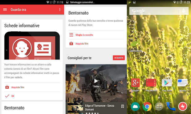 play movies material design
