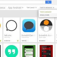 play store web filtro recensioni