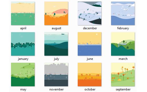 Google Calendar Design : Gli sfondi di google calendar in material design