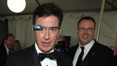 Stephen colbert google glass invision ap