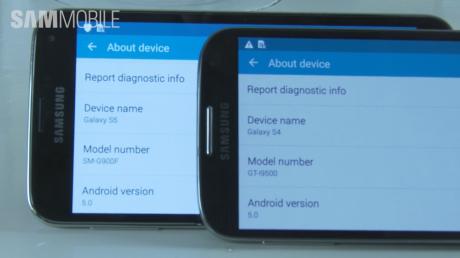 Galaxy S5 vs Galaxy S4 Android 5.0 Lollipop