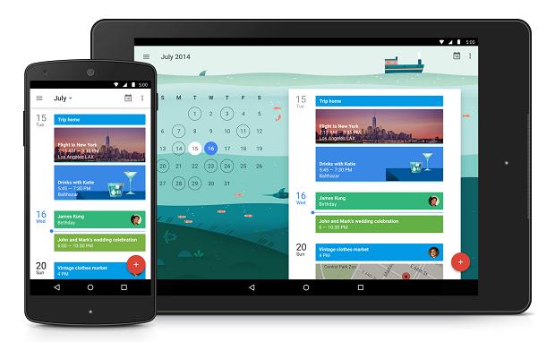 Material Design Google Calendar