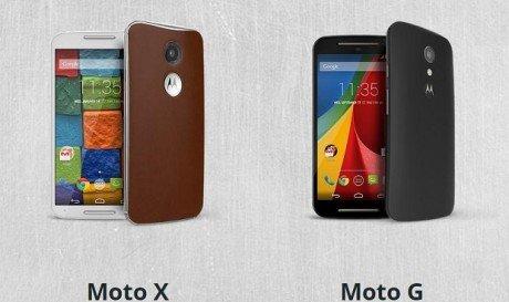 Moto X and Moto G 2014