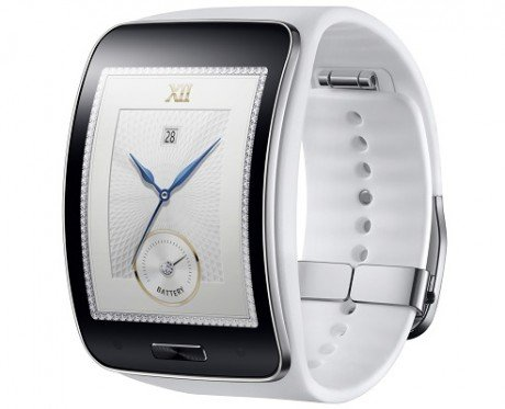 Samsung Gear S Pure White lateral