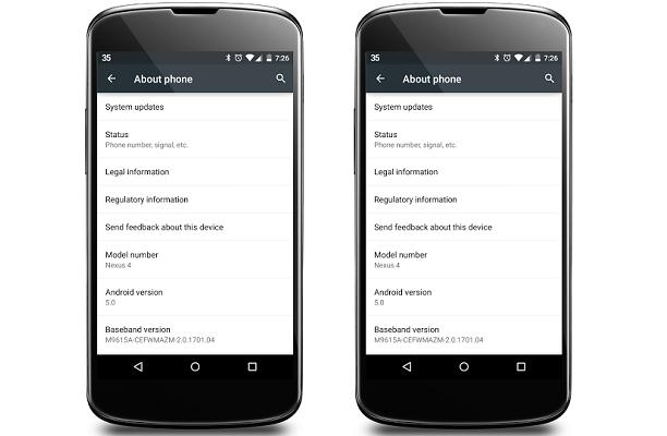 Android 5 0 lollipop per nexus 4 disponibile via ota download