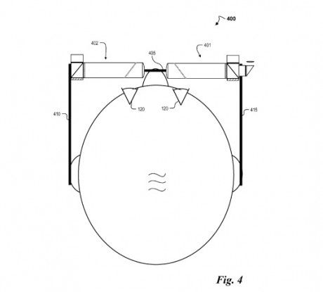Google glass projector patent 2