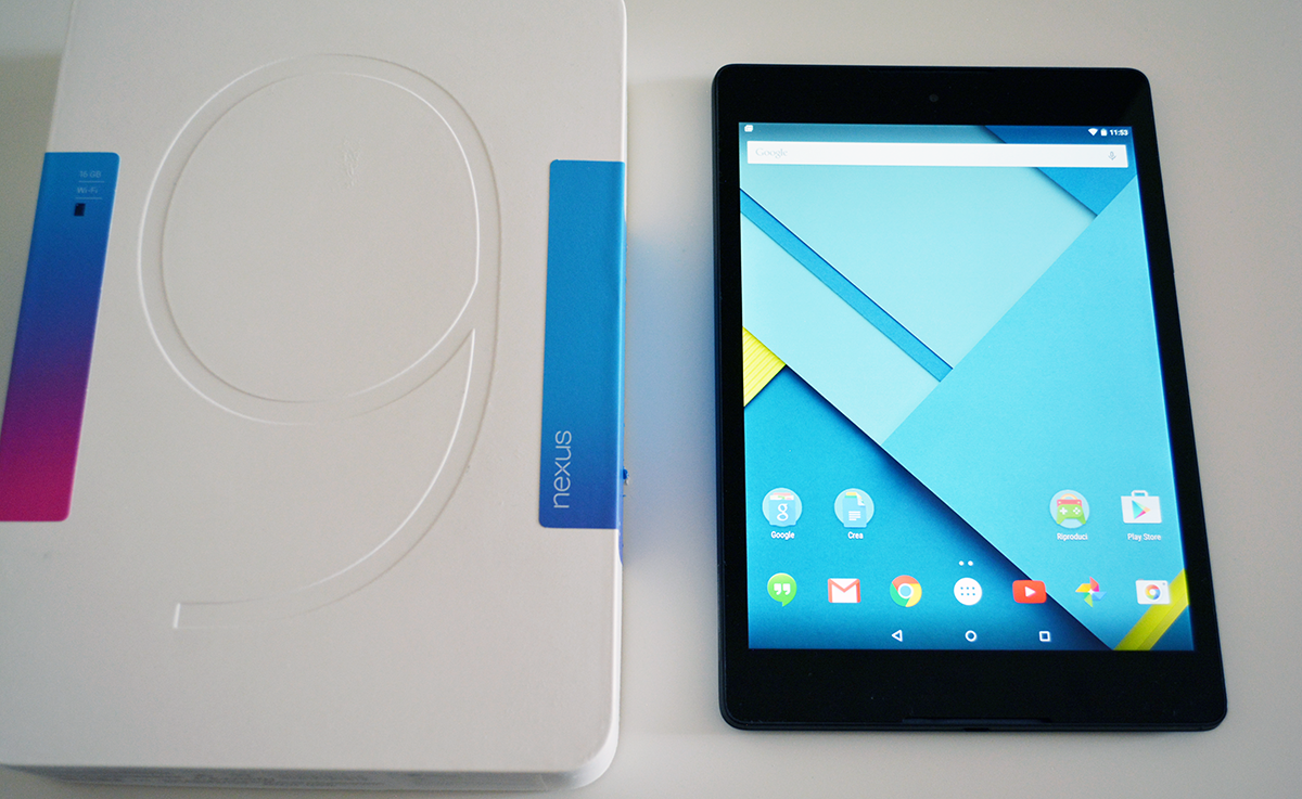 HTC Nexus 9, il nostro video unboxing