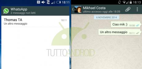 Leggere i messaggi di WhatsApp senza mostrare le due spunte blu
