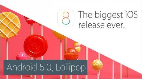 Lollipop vs ios8
