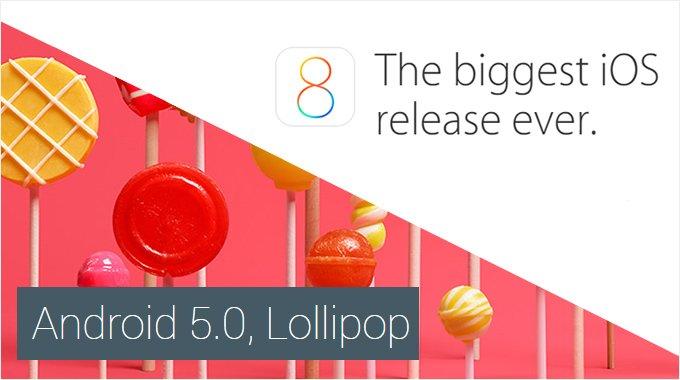 lollipop-vs-ios8