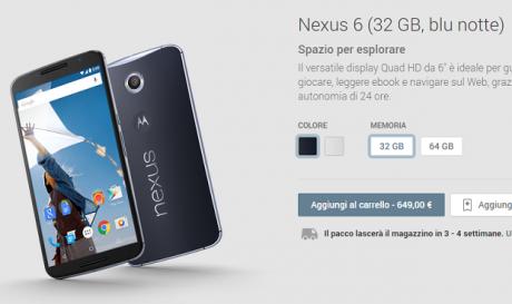 Nexus 6 italia