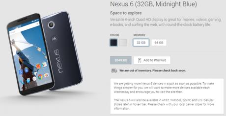 Nexus 6 play