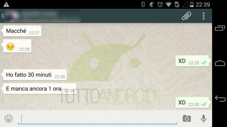 Whatsapp due spunte