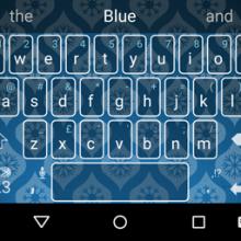 GiftWrap-Blue-SwiftKeyThemes