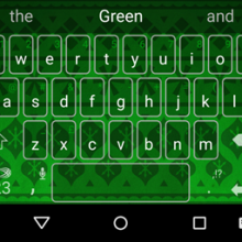 GiftWrap-Green-SwiftKeyThemes1