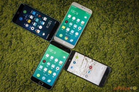 Meizu MX3 vs MX4 vs MX4 Pro vs M1 Note 13