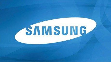 Samsung Logo Blue Background Wallpaper