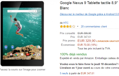 Nexus 9 amazon