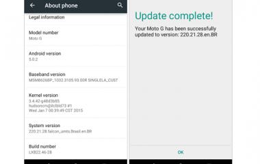 Moto G e Moto G 2014, partito il rilascio di Android 5.0.2