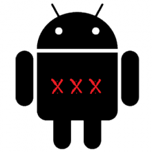 black_android_logo