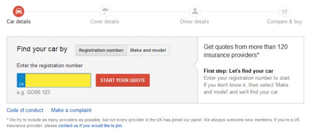 google-compare-insurance-quote-form