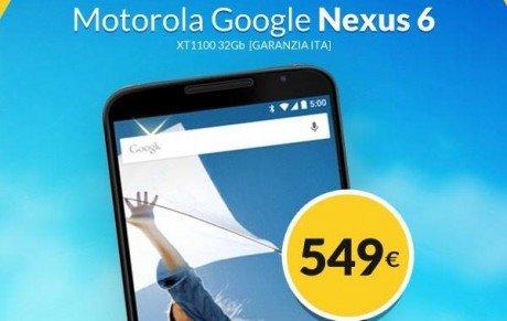Nexus 6 offerta