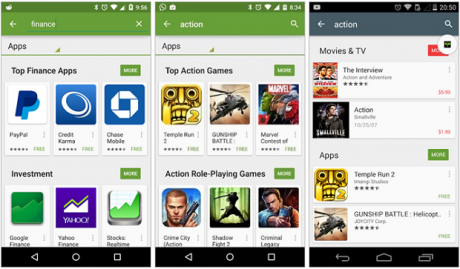 Play store query