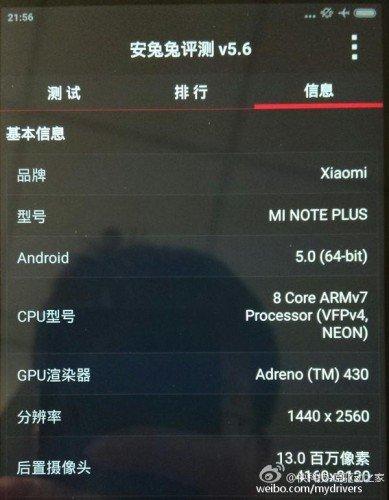 Xiaomi Mi Note Pro AnTuTu