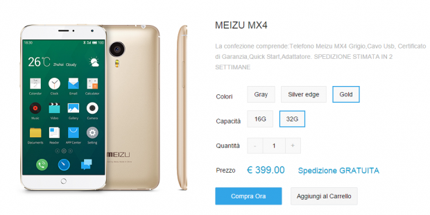 Meizu MX4 Italia