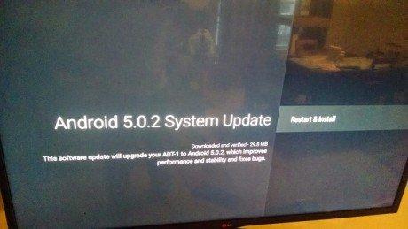 Nexus Player Android 5.0.2 Update Screenshot