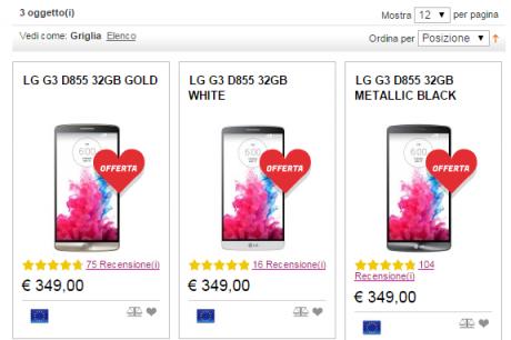 Lg g3 prezzo pazzo