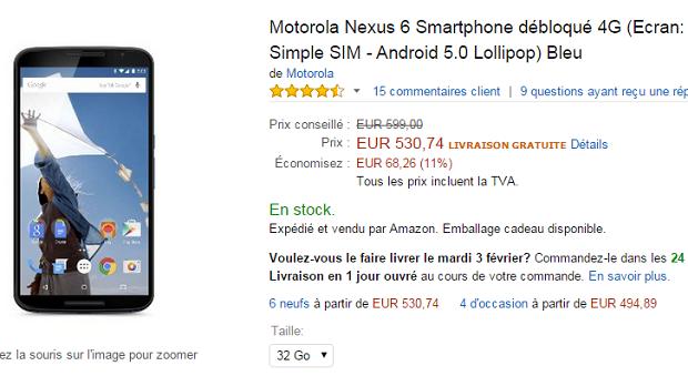 nexus 6 francia
