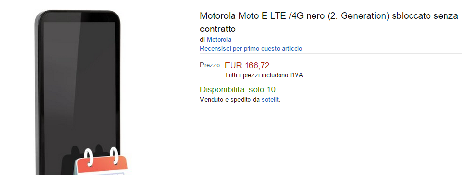 Moto E Amazon